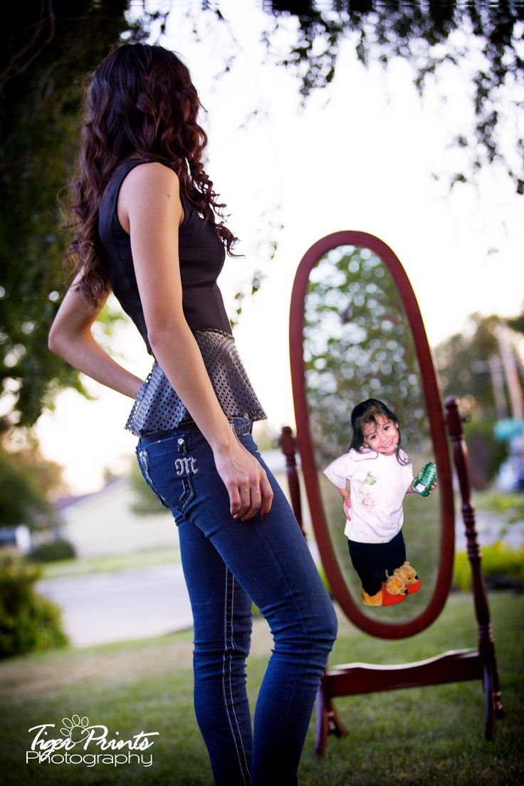 From little girl to young lady :-) Girls Senior Pictures I LOVE this idea! Too perfect!