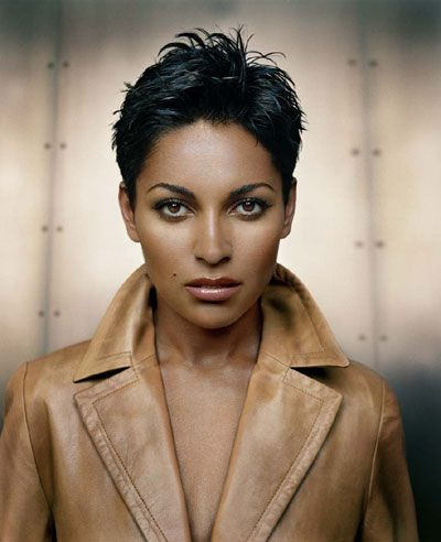 Salli Richardson-Whitfield- cute pixie cut