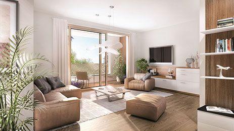 In den Wohnräumen ist Echtholzparkett verlegt, dessen Farbton sich in den Fensterrahmen und -bänken wiederfindet. Eine Fußbodenheizung sorgt in der gesamten Wohnung für behagliche Wärme, lässt sich jedoch für jeden Raum individuell regeln. Bäder und Küchen warten mit ausgesuchtem Feinsteinzeug auf. #wohnen #interiordesign #interior