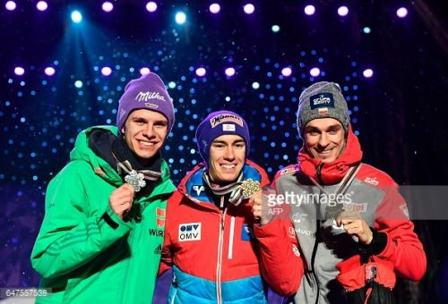 03-03 (L-R) Second placed Germany's Andreas Wellinger,... #svetistefan: 03-03 (L-R) Second placed Germany's Andreas… #svetistefan