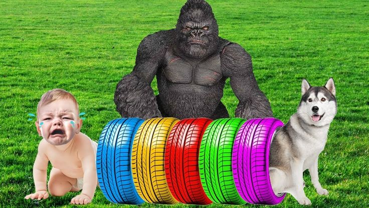 Bad Kids Learn Colors with Color Tire Song for Toddlers - Bad Kid Giant ...