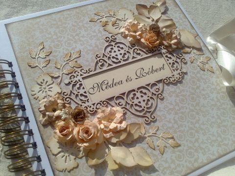 """""""Múló és múlhatatlan..."""" - esküvői album - paplap, meska.hu #wedding #album"""