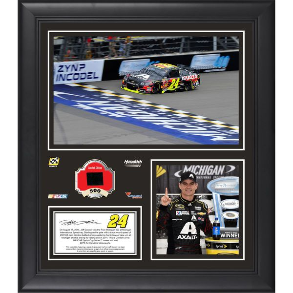 "Jeff Gordon Fanatics Authentic Framed 15"" x 17"" 2014 Pure Michigan 400 at Michigan International Speedway Race Winner Collage With Race-Used Tire-Limited Edition of 500 - $79.99"