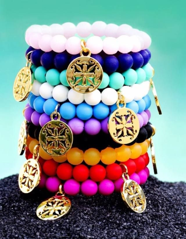 RUSTIC CUFF | RC is excited to introduce the Cate Collection for both RC Girls and Women. The Girls Collection fit ages 5-9 in general and the Women's sizes are one size fits all from about 10 years to adult. Each bracelet consists of vibrant silicone beads that stretch and fit comfortably on most wrists...with a gold RC logo attached.