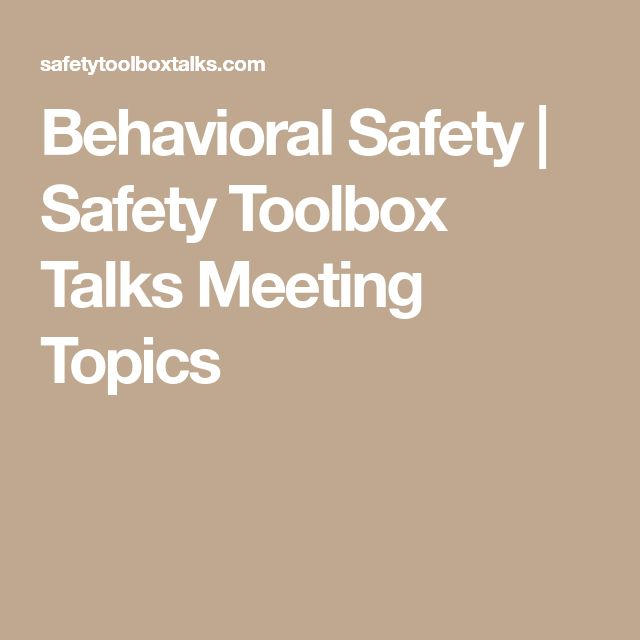 The 25 best safety toolbox talks ideas on pinterest safety behavioral safety safety toolbox talks meeting topics fandeluxe Image collections