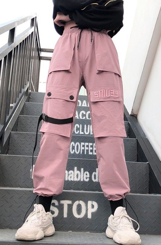 Big Pockets Pink Cargo Pants