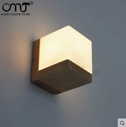 Online Shop Simple Modern Wood Glass Wall Lamps Sconce LED Wall Light  Fixtures For Living Room Part 91
