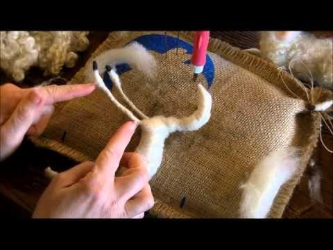 How to Needle Felt: Sheep and Lamb 1 by Sarafina Fiber Art - YouTube