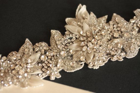 Bridal Wedding Sash belt  Vintage Inspired  Product by MillieICARO
