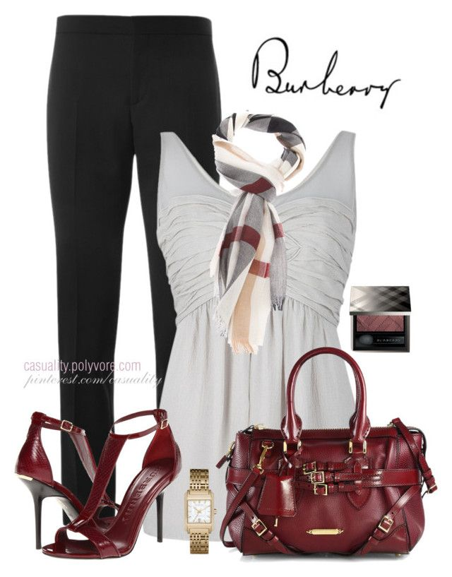 """Burberry Everything"" by casuality ❤ liked on Polyvore featuring Burberry"