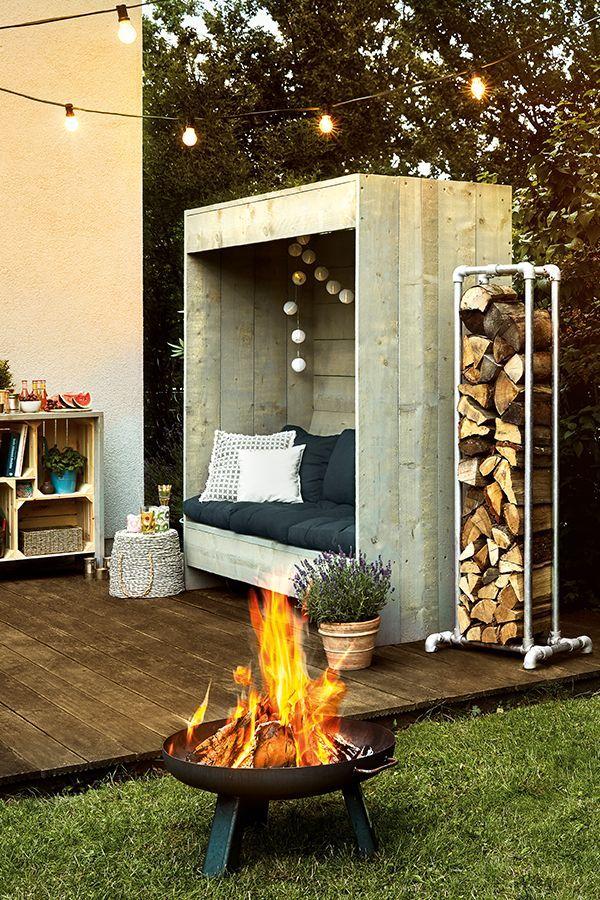Gartenmöbel-DIY. Was wird Dein nächstes Projekt. Ein Holzlager aus Metall, eine Sitzecke oder ein Regal? Hier findest Du alle Anleitungen. #Garten