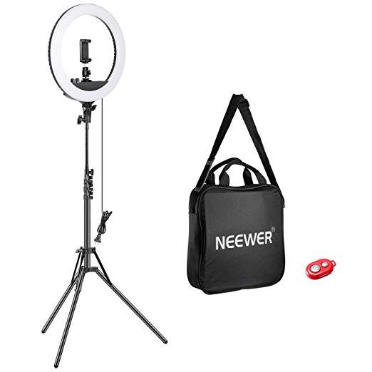 <b>Neewer</b> 14/<b>inch Outer Dimmable LED</b> Ring Light Kit Includes: 30W ...