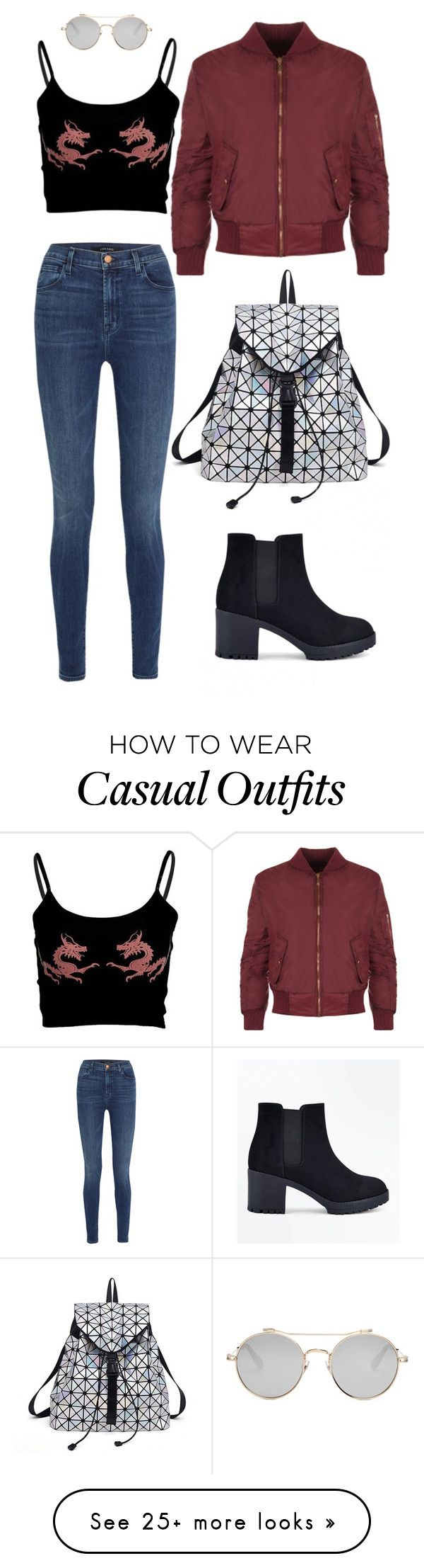 """Janina"" by jess-450 on Polyvore featuring J Brand, WearAll, New Look and Givenchy"