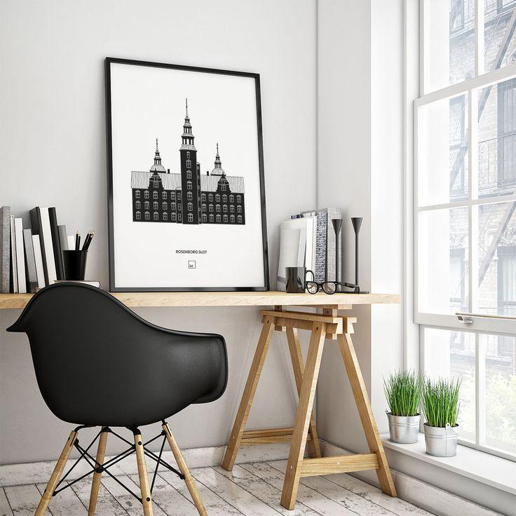Plakat Af Rosenborg Slot, Der Er En Smuk Historisk Bygning Og Et  Fascinerende Kulturhistorisk Museum