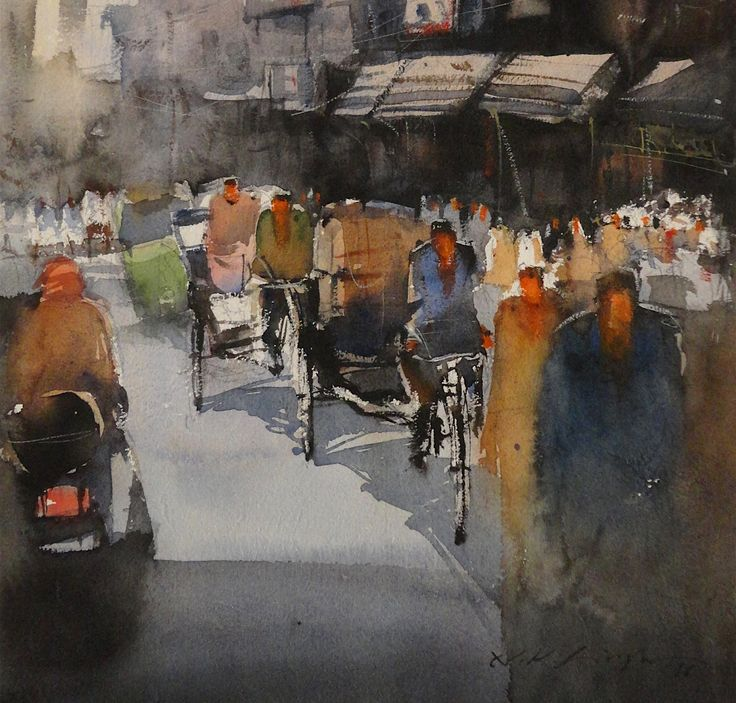 watercolour paintings indian artists