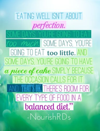 There are no bad foods!