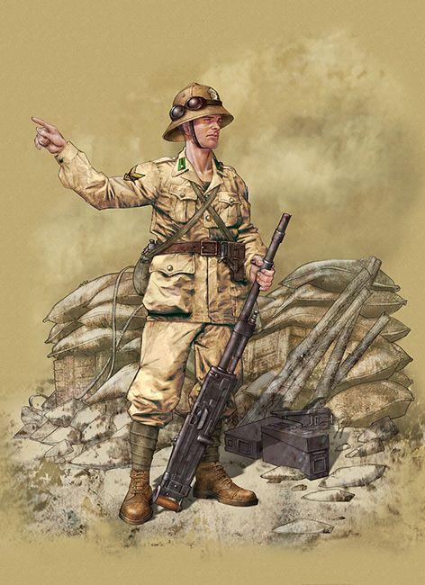 Machinegunner, 28th regiment 'Pavia' Infantry Divion, El Alamein