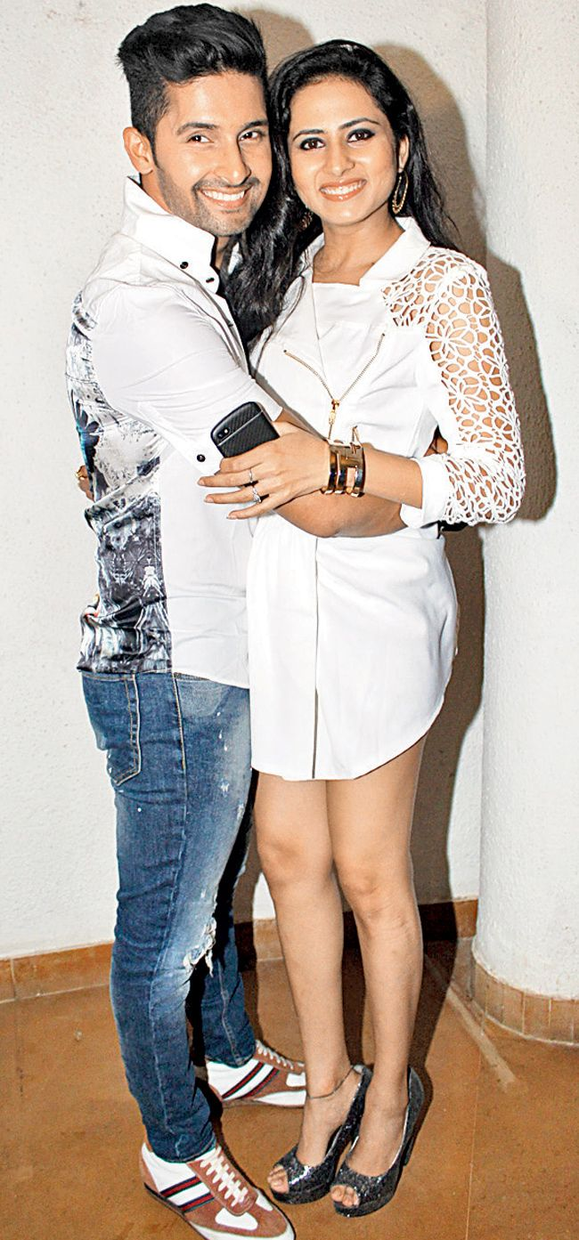 Ravi Dubey and Sargun Mehta at the special screening of TV serial 'Jamai Raja'. #Style #Bollywood #Fashion #Beauty