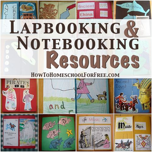 """10 Free Lapbooking & Notebooking Resources - """"A lapbook can also be called a layer book, flap book, or shutter book. Basically, it is made of at least 2 manila folders with sections of mini-books, pictures, facts, poems, or anything related to the lesson at hand."""" #homeschooling #lapbooking #lapbooks"""