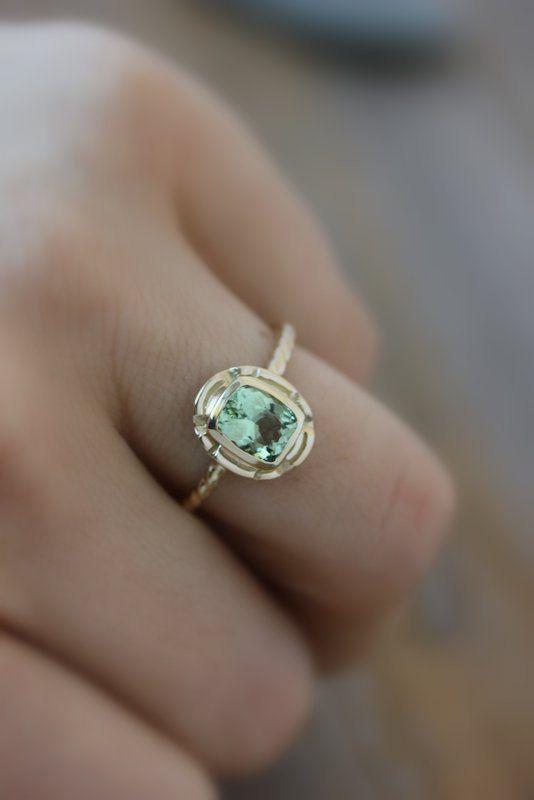 Custom Ring for Cheryl in 14k Palladium WHITE GOLD