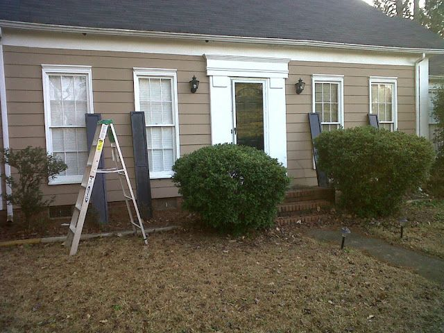Diy Exterior Window Shutters Before After Curb Appeal Pinterest Diy Exterior Window