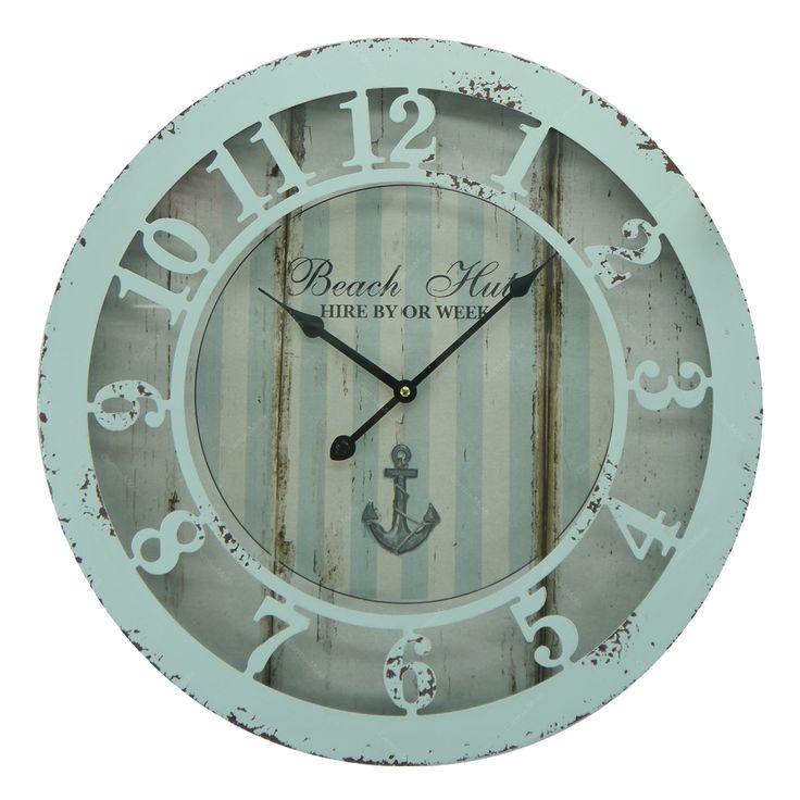 Relógio de Parede Redondo Old Nany em Metal - 50x50 cm