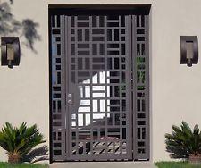 Contemporary Metal Entry Gate Panels Steel Iron Designer Garden Walk Modern
