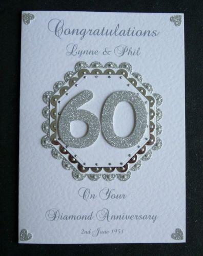 10 best diamond wedding cards images on pinterest wedding cards Diamond Wedding Cards And Gifts handmade personalised diamond 60th wedding anniversary card diamond wedding cards and gifts