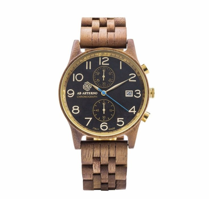 AB Aeterno Watch Chrono In sandal and oak wood. Quartz movement. Available at: Www.bangslove.com
