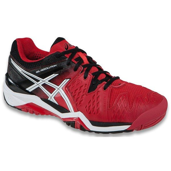 Asics Gel Resolution 6 Fiery Red/Black/White Men's Shoes