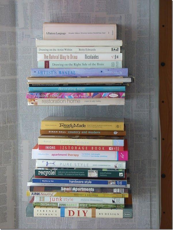 Estanterías invisibles. ¿O serán libros flotantes? Una manera tan práctica como impactante de organizar tu biblioteca · http://gnomo.eu/estanteriasinvisibles