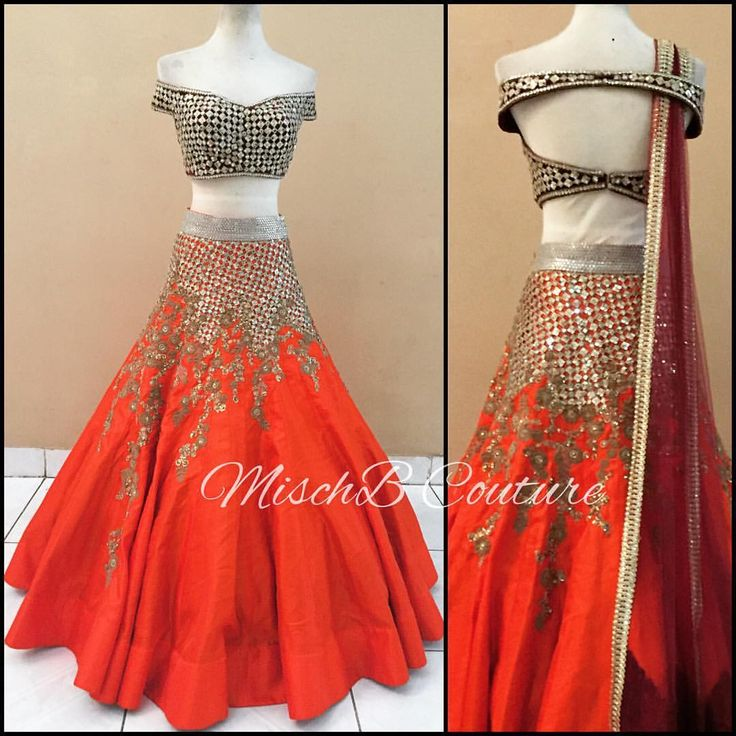 A Mirror Story, lehenga by MischB #orange