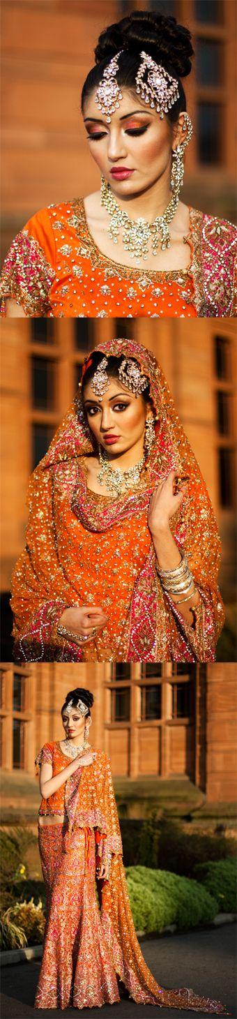 Flawless Indian bridal makeup. Sangeet, Mehndi, Henna, Holud, Haldi