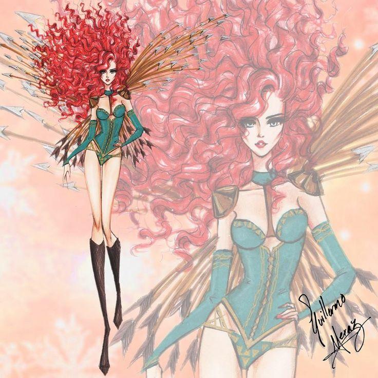 The Disney Princess Victoria's Secret Collection by Guillermo Meraz - Merida
