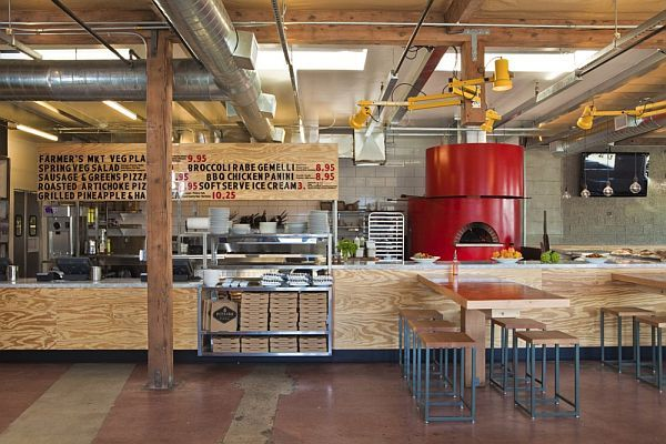 pitfire pizza interior restaurant by bestor architecture pizza