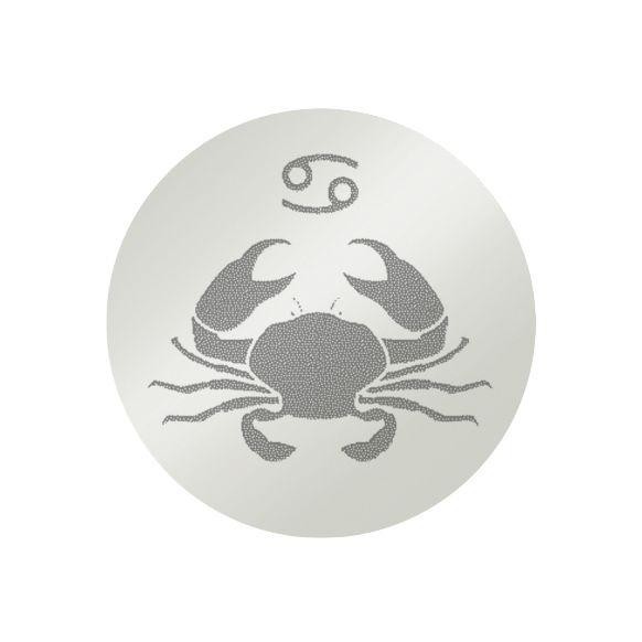 1e gehalte zilveren platte graveermunt sterrenbeeld in de vorm van een kreeft, 33 mm, MY iMenso.
