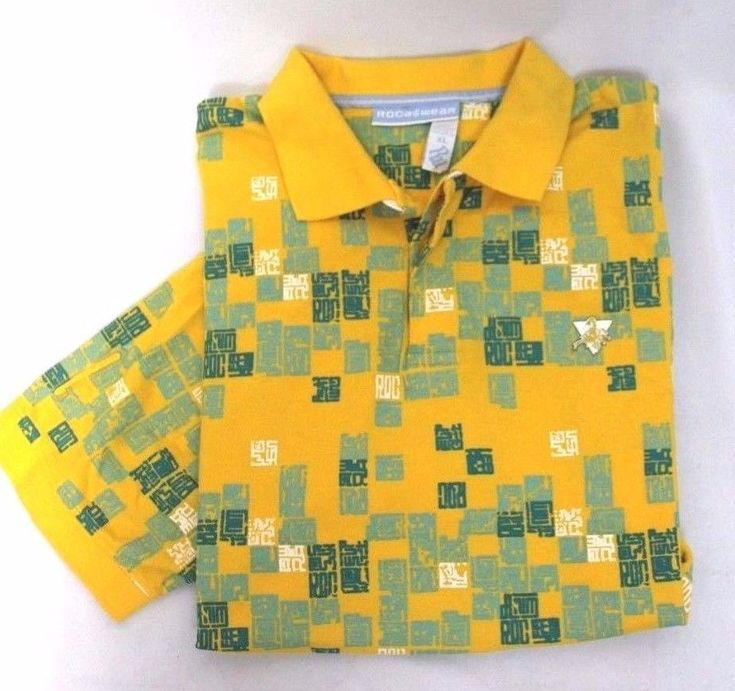NEW ROCAWEAR YELLOW POLO SHIRT MENS SZ XL #Rockware #casual