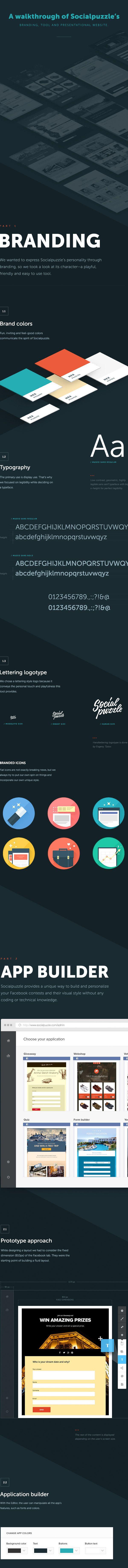 Socialpuzzle - Tool and Website Presentation on Behance