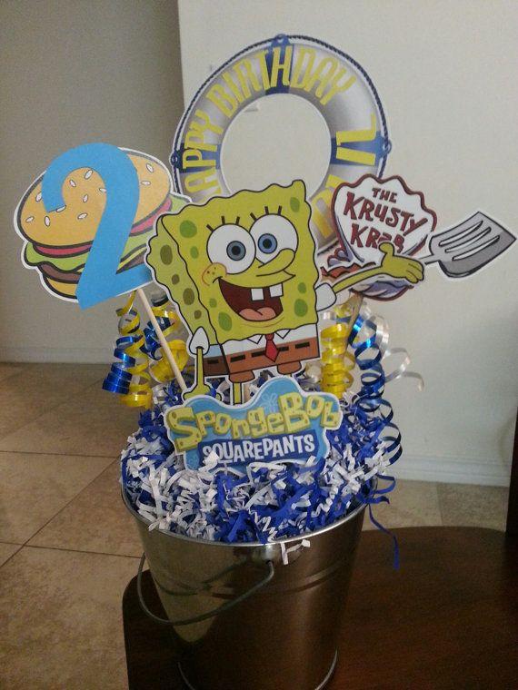 SpongeBob Party Centerpiece by MyPaperCraze on Etsy, $19.95