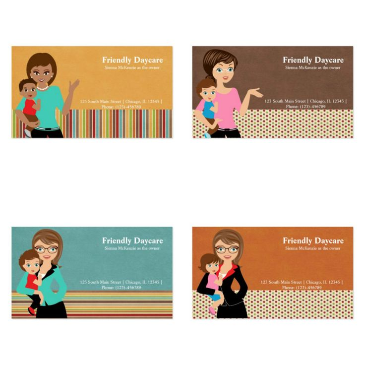 #daycare #businesscard Check herewww.zazzle.com/graphicdesign/daycare for more designs. #woman #baby #nanny