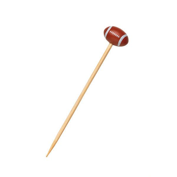 Football Themed Bamboo Skewers 4.72 in/Case of 1000