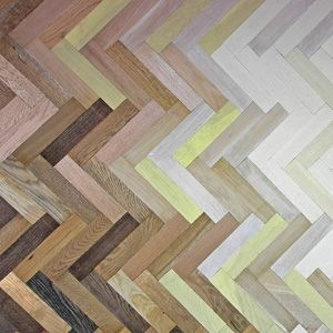 Coloured parquetry