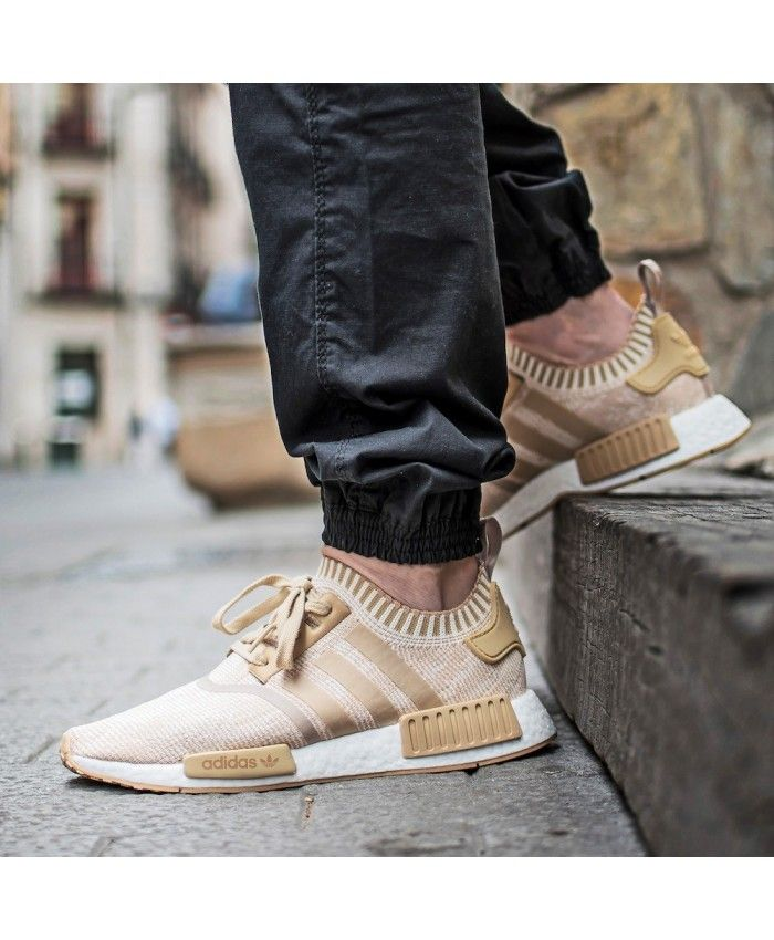 9769add33a19 Adidas NMD R1 PK Trainers In Linen Khaki