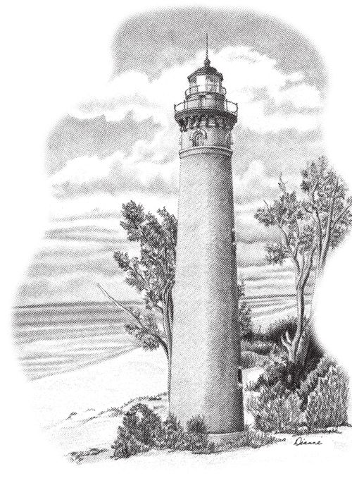 Lighthouse Drawings | ... Butterfly 01 ..... Lighthouse 01 (shown personalized