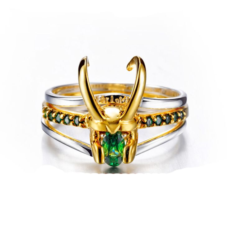 2019 Latest Design Marvel Movie Charm Jewelry Ring 925 Silver Loki Ring For Men