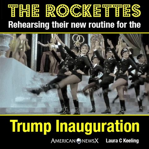 The Rockettes rehearsing their new routine for the Trump Inauguration