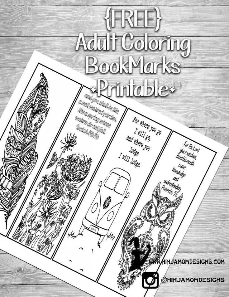 FREE Adult Coloring Scripture Book Marks Printable