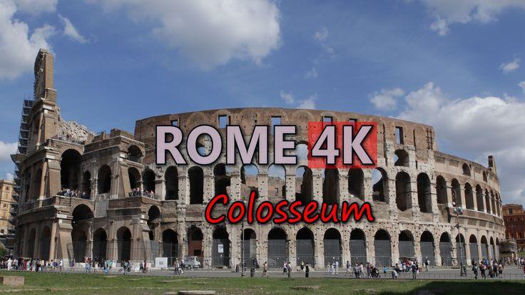 Ultra HD 4K Rome Colosseum Famous Sightseeing Travel Landmark Day Night UHD Video Stock Footage