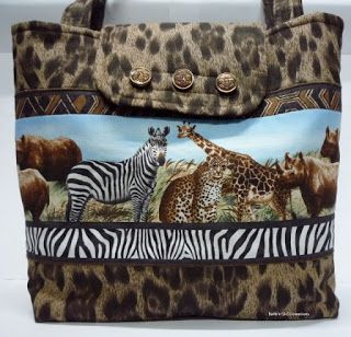 BaRb'n'ShEll Creations-African Animal tote - BaRb