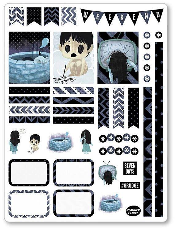 Japanese Horror Decorating Kit / Weekly Spread Planner